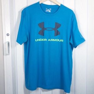 Under Armour Loose Fit Athletic L Tee Shirt Blue